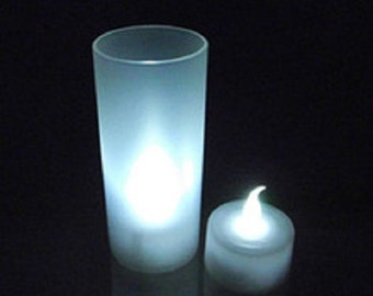 Candle LED white or Rose / / set of 10