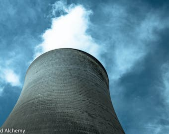 Powerstack / cooling tower color photography