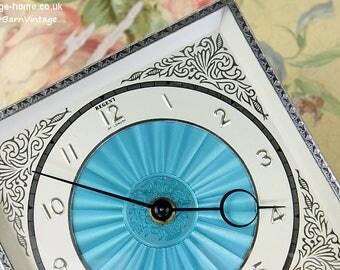 Exquisite Blue Guilloche Regent Clock