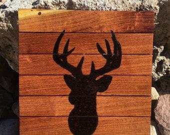 Deer head silhouette wall decor