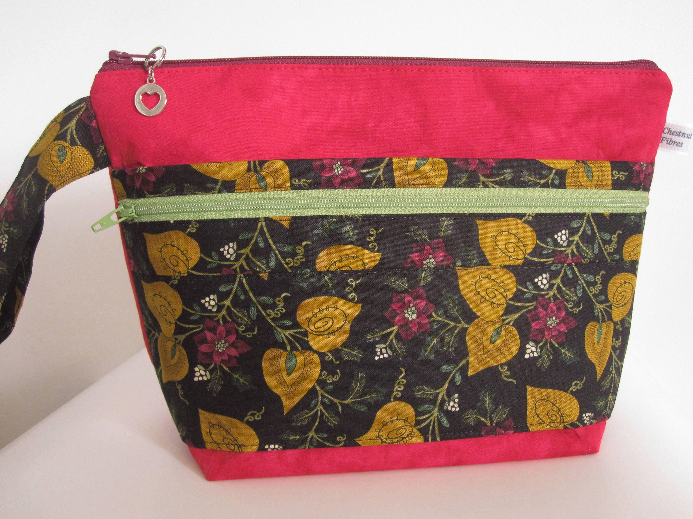 Zippered Knitting Bag : Chestnutfibres zippered knitting crochet project bag