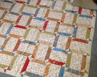 Rotating Oblong Squares Quilt