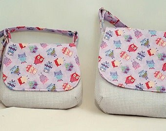 Mother daughter handbags - Mini me bags - Fabric handbags - Crossbody handbags - Cross body bag - Woman's handbag - Adjustable strap bags
