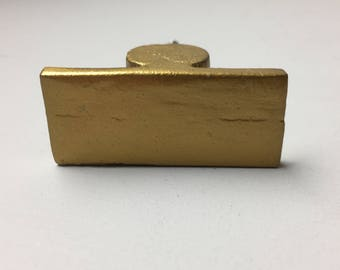 Old Gold METAL BAR KNOB -  Home decor drawer pull