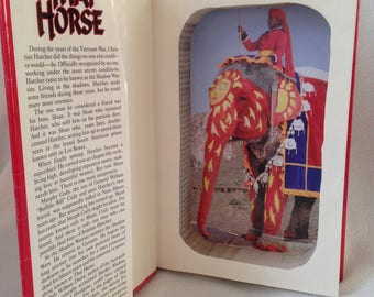 Hollow Book Safe with Dust Jacket. Magnetic closure. Thai Horse