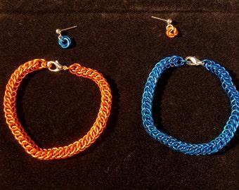 Portal chainmail bracelet set