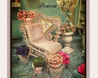 Garden chair1/12, dollhouse furnitures.