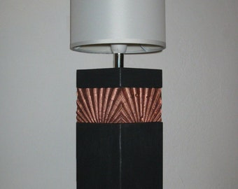 Table lamp 'Bansin' with Mussel pattern