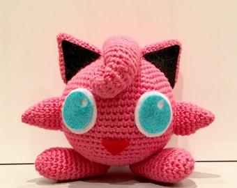 Crochet pattern, crochet jigglypuff Pokemon Jigglypuff, easy crochet PDF pattern crochet pattern file amigurumi crochet amigurumi pokemon