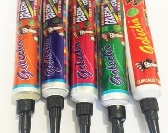 5 Colours Henna Paste Cones Tubes Tattoo kit Body Art Temporary Mehandi Temp Tattoo Aussie Seller Fast Shipping