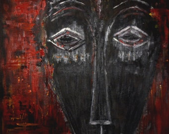 Tawny mask - oil on canvas