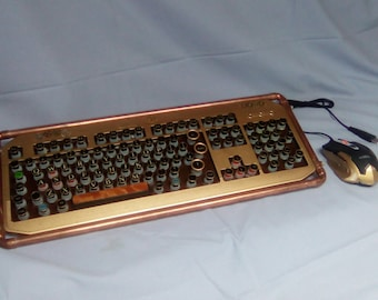 "Steampunk Keyboard ""The Edison Industrial"""
