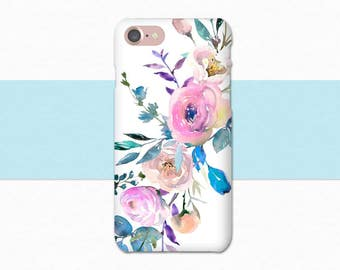 Flower Phone Case, Flower iPhone Case, iPhone 6 Case, iPhone 7 Plus Case, Floral iPhone Case, iPhone Case Flowers, iPhone SE, 6 Plus Pink