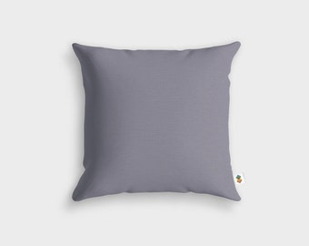 Basic GREY LILAC cushion - Made in France - 45 x 45 cm