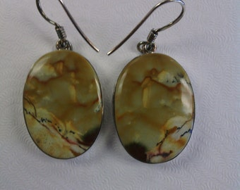 Sterling Silver Jasper Earrings