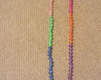 Colourful dice necklace