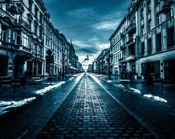 Apocalyptic Lodz, Poland - Digital fine art photography print