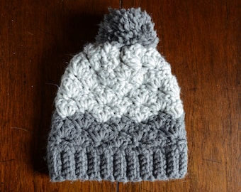 Gray Chunky Winter Hat