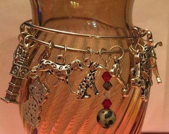 Disney 101 Dalmations Inspired Charm Bangle Bracelet