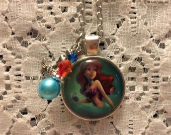 Ariel Charm Necklace/Ariel Charm Pendant/Ariel Jewelry/Disney Princess Jewelry/The Little Mermaid Necklace/The Little Mermaid/Disney Jewelry