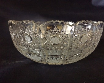 Czech bohemia crystal bowl 15cm