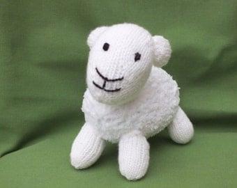 Knitted lamb, stuffed soft animals, hand made