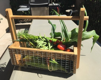 Garden Basket, Cedar Garden Basket, Vegetable Basket, Egg Basket