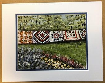 Quilt Line Oil Painting Print