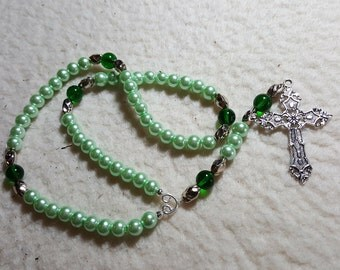 Rosary - Green pearls