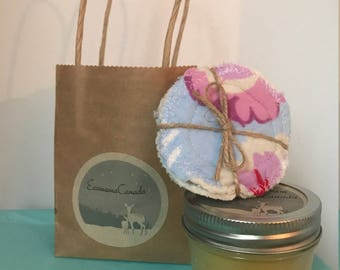 Calendula cream and cotton rounds gift set