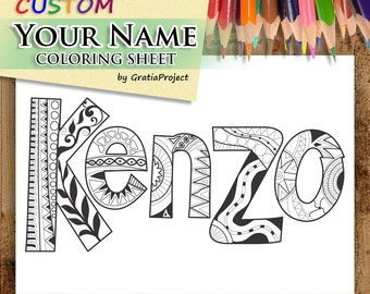 Custom - Your Name coloring sheet
