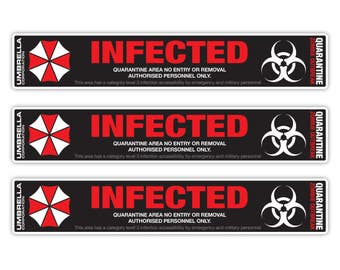 10pc Umbrella Corporation INFECTED Resident Evil Vinyl Decal Sticker