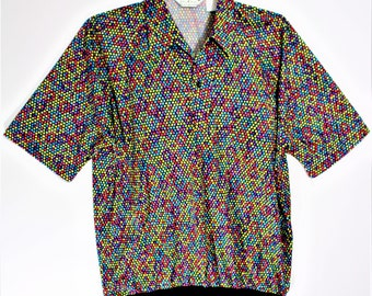 Mens vintage Lilly Dache shirt Size XL