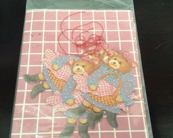 Vintage Giftwrap and Tags / Teddy Bears
