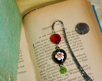 Flower painted Bookmark