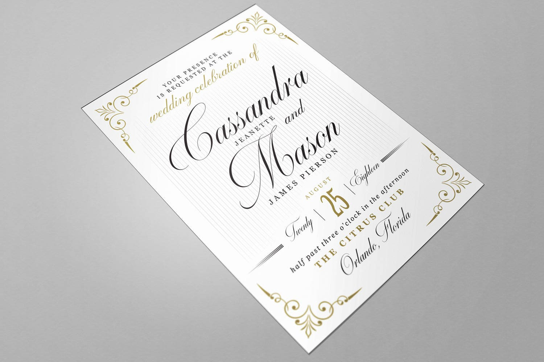 Wedding invitation word template vintage style black zoom stopboris Images