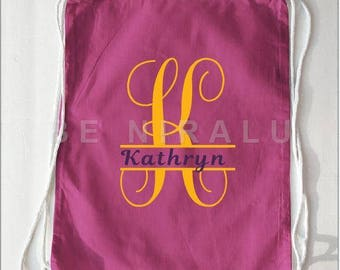 Personalized Drawstring Bag   Custom Name Bag   Custom Name Drawstring Bag   Drawstring Bag   Custom Backpack   Custom Drawstring Bag