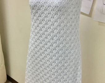 Comfortable stylish and simple white dress