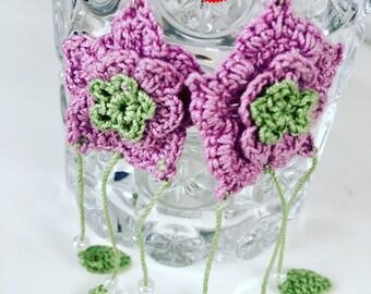 Very nice crochet earrings for spring / summer