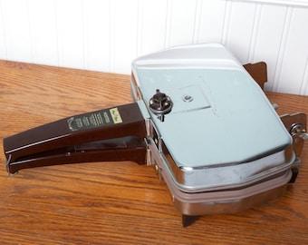 Vintage Kitchen Magic Maid Sandwich Press - Chrome - Vintage Sandwich Grill - Hearts-Diamonds-Spade-Clover