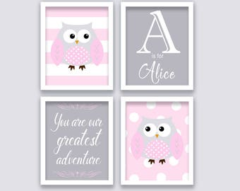 Owls Adventure Nursery Wall Art