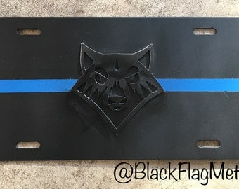 Custom License Plate Thin Blue Line - Customize
