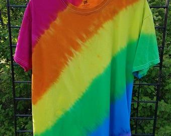 Rainbow/LGBTQ/ Tie Dye T-shirt/  Small, Medium, Large, XL, xxl, xxxl,/ LGBT/Gay Pride T-shirt/ Pride Fest Shirt/ Pride Parade Shirt
