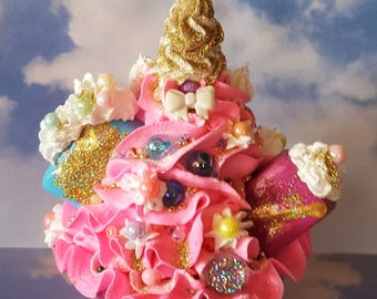 Unicorn Fake Cupcake Photo Props, Unicorn Cupcake Birthday Party Decorations, Displays, Ready to Ship
