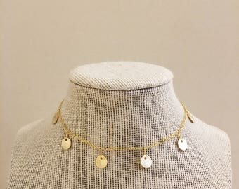 Gold Dangle Choker