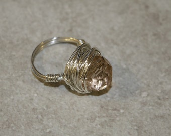 Pink Twist Nested Ring
