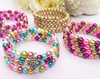 Children's Bracelet, Stocking Filler, Party Bag Filler, Wrap Bracelet, Gifts for Girls, Children's Accessories, Personalised Jewellery, Gift