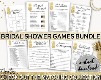 Games Bundle Bridal Shower Games Bundle Pineapple Bridal Shower Games Bundle Bridal Shower Pineapple Games Bundle Gold White prints 86GZU