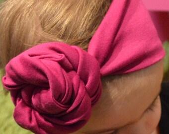 Toddler Rose Knot Headband/ Turban