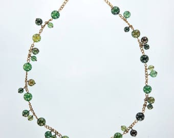 Green Tourmaline Necklace Gemstone Necklace